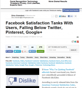 Facebook Satisfaction