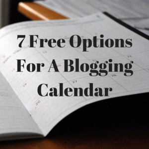 Blogging Calendar