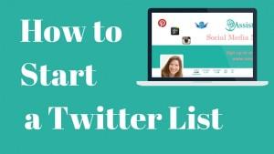 How to start a twitter list